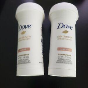 2 Dove Women's Dry Serum Antiperspirant Deodorant, Rose Silk, 1.7 Ounce