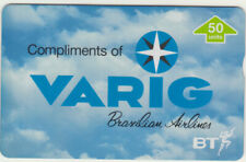 BT Private 410 Aviation, Brazilian Airlines, VARIG, Mint Phonecard, SCARCE £175