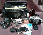 Asahi Pentax K1000 35Mm Camera W 3 Lenses Camera And Carrying Case Plus More