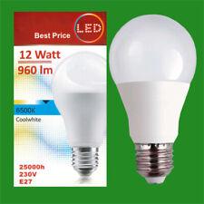 2x 12W LED GLS A60 ES Edison E27 6500K Cool White Lamp Light Bulb 960Lm 230V