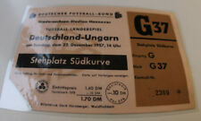 Ticket for collectors * West Germany - Hungary 1957 Hannover