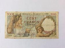 Billet français de 100 F France Sully  5/10/1939 180 voir photo
