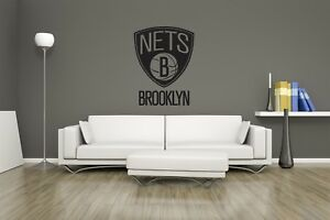 Huge NBA Brooklyn Nets Basketball Vinyl Sticker Decal Wall Art  / Man Cave