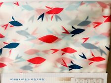 Red Blue Origami Fish Peva Shower Curtain By Splash Flipp Fishes Abstract