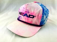 ef08401879e Vintage 1980s HEAD Tennis Hat Cap Tye Dye Watercolor Pink Blue Trucker  Surfer