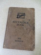 Original 1916 Buick automobile owner's manual