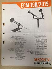 Sony Service Manual for the ECM-19B ECM-2019 Microphone ~ Repair
