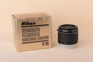 Nikon TC-201 Teleconverter AIS - Duplicador manual 2x - Excelente - Mint