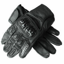 Tuzo Toranto 11 Black Leather Motorcycle Cycling Gloves Small Knuckle Armour