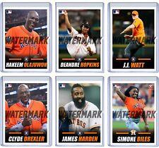 Lot of six (6) Houston Astros First Pitch custom baseball cards Watt Harden MLB