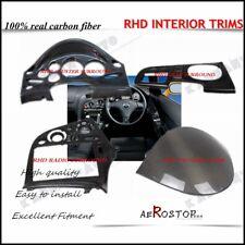 4PCS CARBON FIBER RHD INTERIOR SET SURROUND COVER FOR MAZDA RX-7 RX7 FD3S