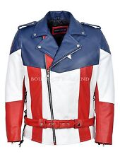 Captain America Jacket The First Avenger Version Real Cow Hide Leather Jacket