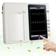 Hospital 12-lead 3-Channel Electrocardiograph ECG/EKG Machine+ batteries × 2 USA