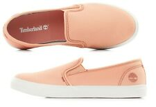 Timberland Women's Newport Bay Canvas Textile Pink Slip On Shoes A1YTT ALL SIZES