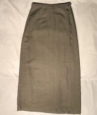 af96d3a305 Patagonia Women's Size 6 Wrap Button Long Maxi Skirt 100% Hemp Green