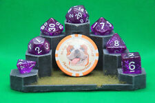 7 Piece Polyhedral Dice Set -  Arcane Aura  - With Storage Tube