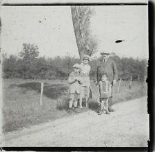 Snapshot Famille France Photo Plaque de verre Stereo Vintage LD7