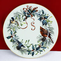 "Lenox China WINTER GREETINGS Dinner Plate  10 1/2"" 1995 USA Made 1st Qlty No Use"