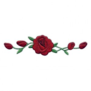 Rose / Roses flower with buds - IRON ON Embroidered PATCH/BADGE
