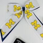 Lot Of 11 University of Michigan Hair Bow Michigan & Mossy Oak Yellow&Blue Camo