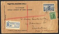 1936 3d Cable & 4d koala on registered 'Gould League' cover to NZ AN4ab