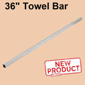 """36 Inch Towel Bar Replacement Polished Chrome Finish Square Fits 3/4"""" Bracket"""