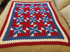 Handmade Afghan / Throw Blanket - Designer Collection - Pinwheels & Windmills
