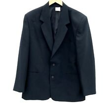 Premier Man Suit Jacket Blazer size 42R single breasted shoulder pads Black VGC
