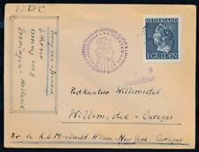 1 GLD.346 PER 1E VLUCHT AMSTERDAM-NEW YORK-CURACAO 6 JUN 1946 EN RETOUR   Zj731