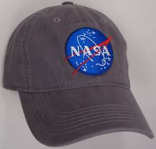 Hat Cap NASA Insignia Logo Symbol Grey CC