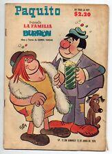 PAQUITO Presenta LA FAMILIA BURRON #17298 Mexican Comic 1976
