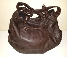 CONVERSE One Star Brown Faux Leather Multi-Pocket Shoulder/Hobo Bag