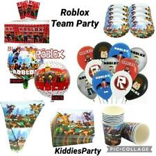 """ROBLOCKS 12"""" LATEX PARTY BALLOON PLATES CUPS BANNER TABLE COVER FOR KIDS PARTY"""