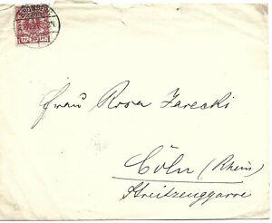 Germany 1895  10 Pfennig Stamp on letter - Bromberg Postmark