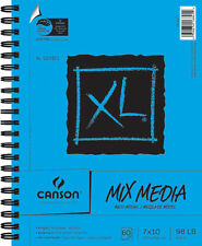 """NEW 60 Sheets Canson XL Multi-Media Paper Pad 7""""X10"""" 702-2419 FREE SHIPPING"""
