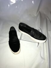 WOMENS Vince Calf Skin Black and White Slip On Loafers SIZE 6M
