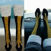 Womens Novelty Funny 3D Chicken Leg Socks High Cartoon Animals Thigh Stocking AU