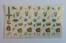 FIVE SMALL PICTURES TEMPORARY TATTOOS T204