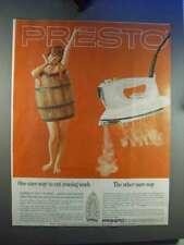 1964 Presto Spray Steam Iron Ad - Cut Ironing Work