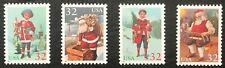 1995 Scott# 3004-07 - 32¢ - Set of 4 Singles - SANTA & CHILDREN - MNH