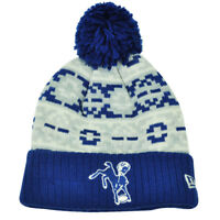 NFL New Era Retro Chill Cuffed Knit Beanie Pom Pom Winter Toque Baltimore Colts