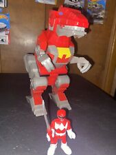 Fisher-Price Imaginext Power Rangers Red Ranger and T-rex Zord Playset HTF Rare