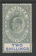 Gibraltar SG62 los malos 2/1905-verde y azul, sobre papel ordinario Mint C, £ 120