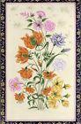Handmade Miniature Art Painting Beautiful Flora Flower Beautiful Folk Art