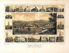 1852 York map Pennsylvania Antique old genealogy family history pa208