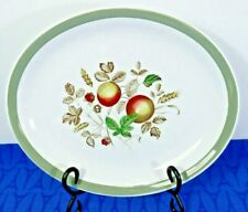 """Alfred Meakin Platter 11"""" Hereford Green band fruit and leaves EXC!"""