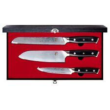 FollCorp 3 Piece Santoku Set - 67 Layer Premium Damascus | Santoku Chef's Knife