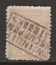 Suriname nr 6 SPECIAL CANCEL Willem III 1873 FIRST SERIE
