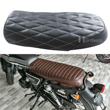 Diamond Black Universal Cafe Racer Seat Flat Brat For SR400 SR CB KZ Suzuki GS