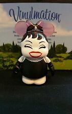 "DISNEY VINYLMATION Park  3"" Set 1 Cutesters En Vogue Audrey Hepburn Black Dress"